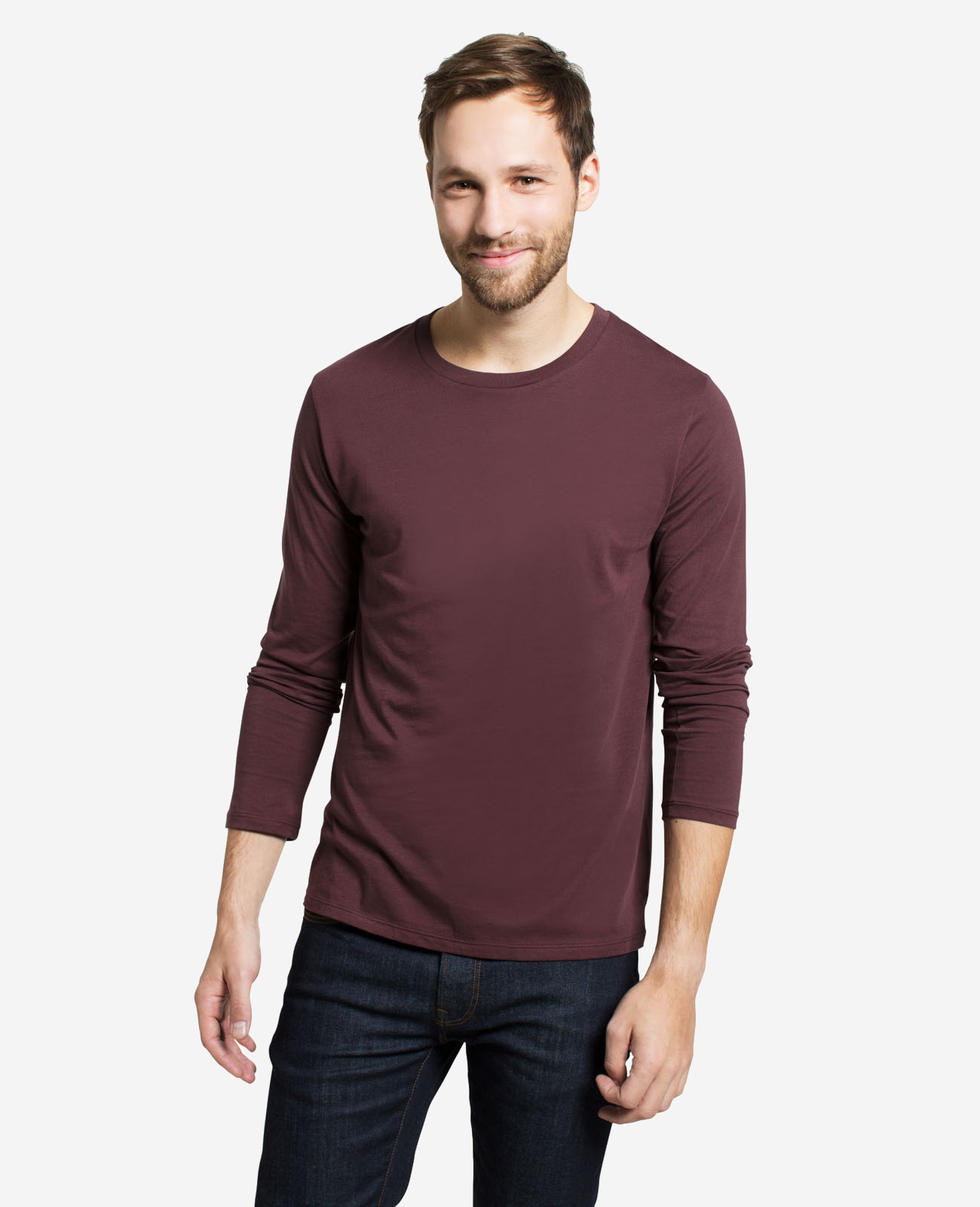 Men's Pima Long Sleeve Crew Neck T-shirt