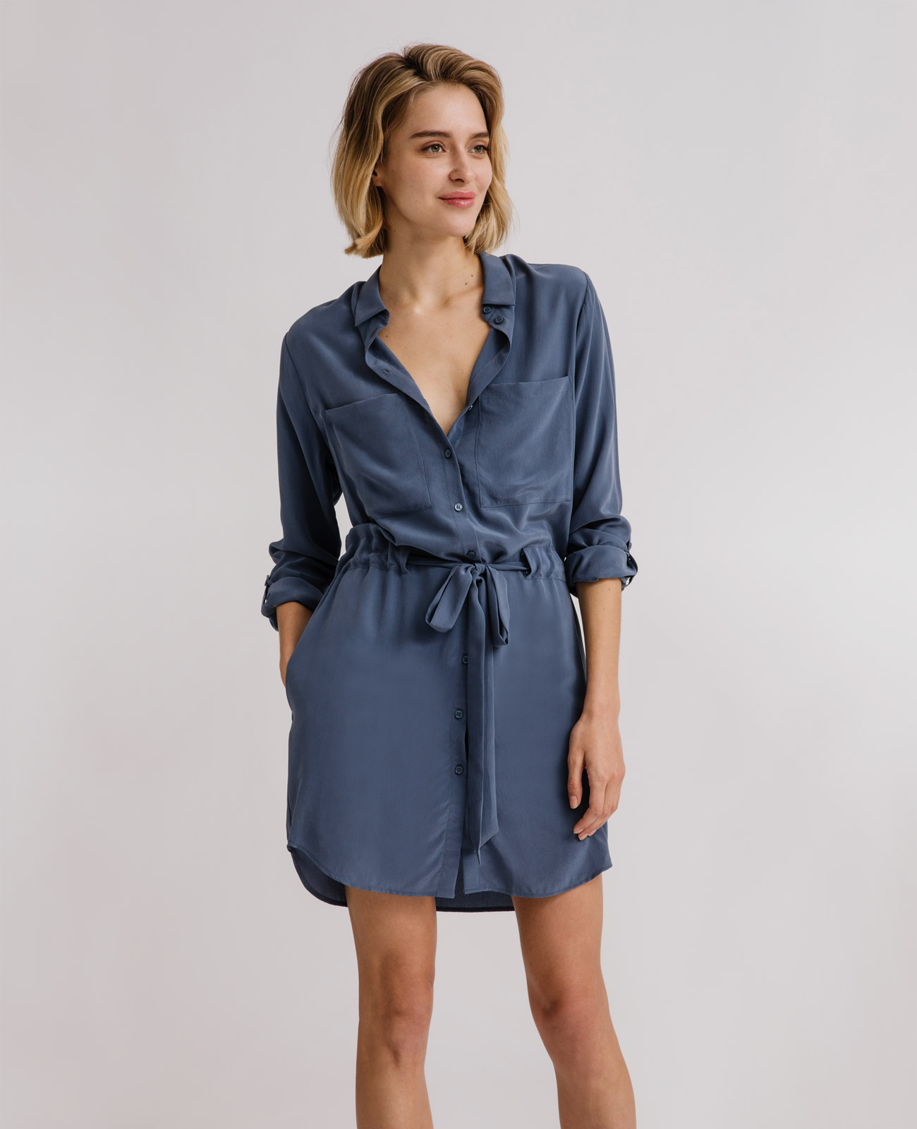 Women's Silk Shirt Dress