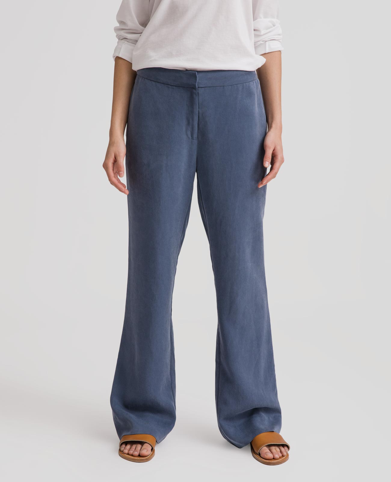 Womens Tencel Slouchy Pants