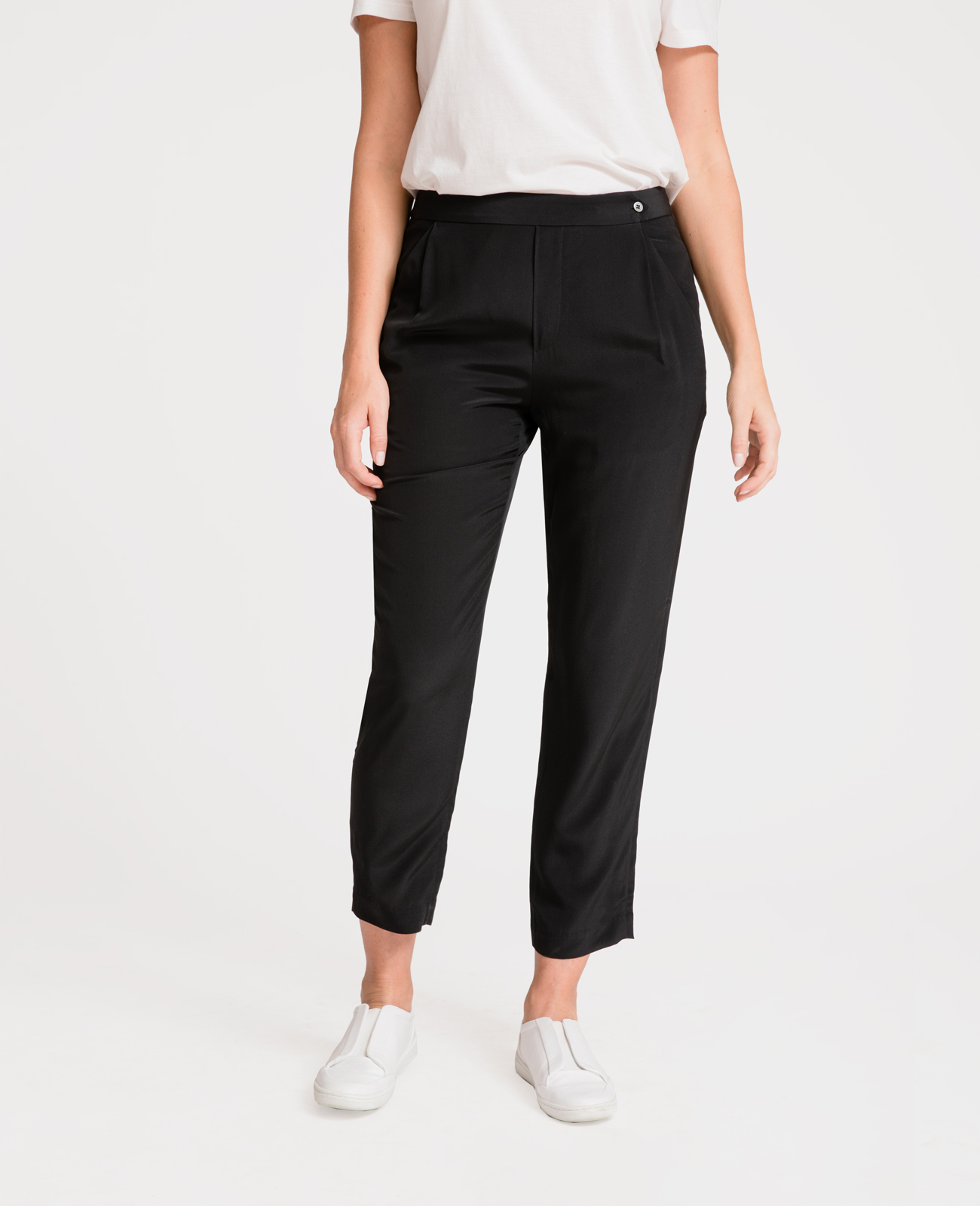 Women Silk Tailored Pants