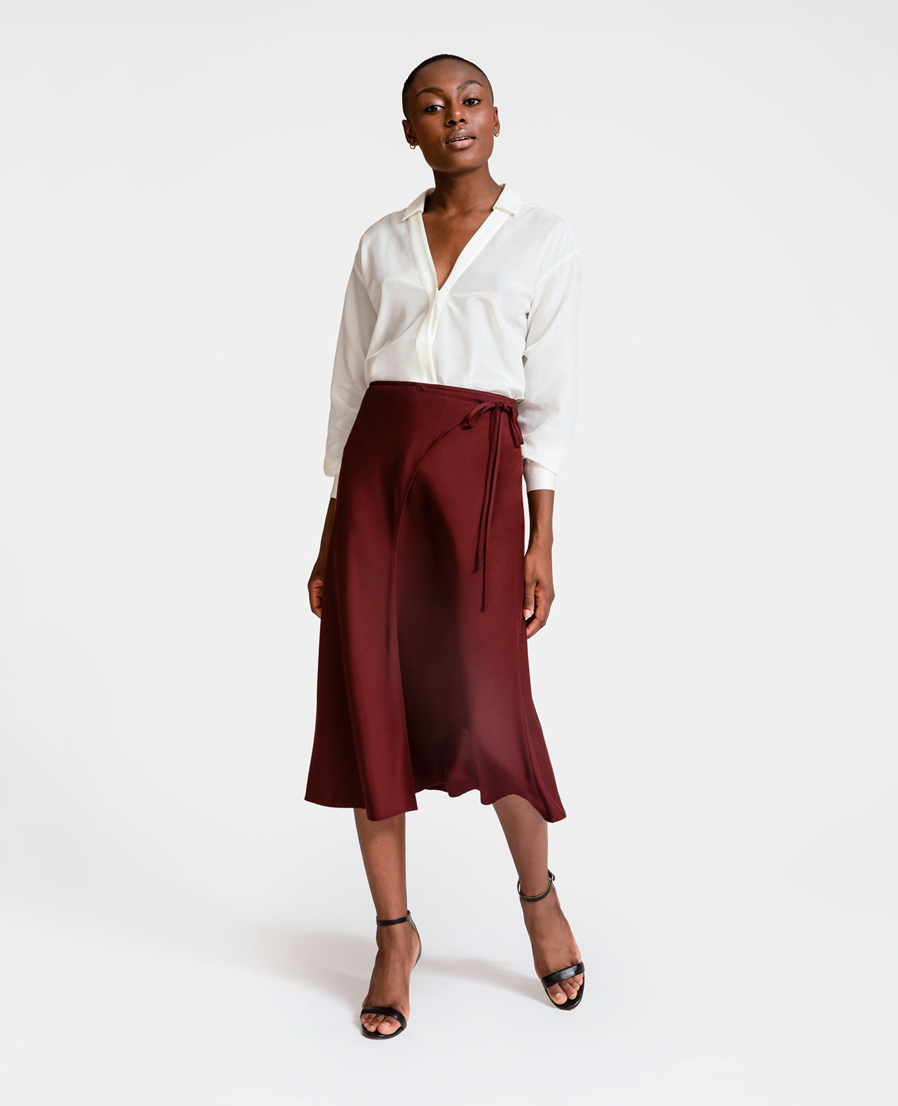 Women Tencel Wrap Skirt