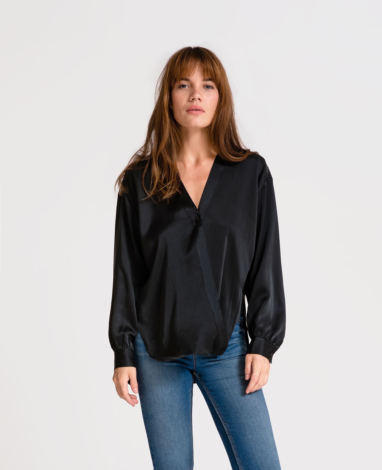 Womens Wrap Front Blouse