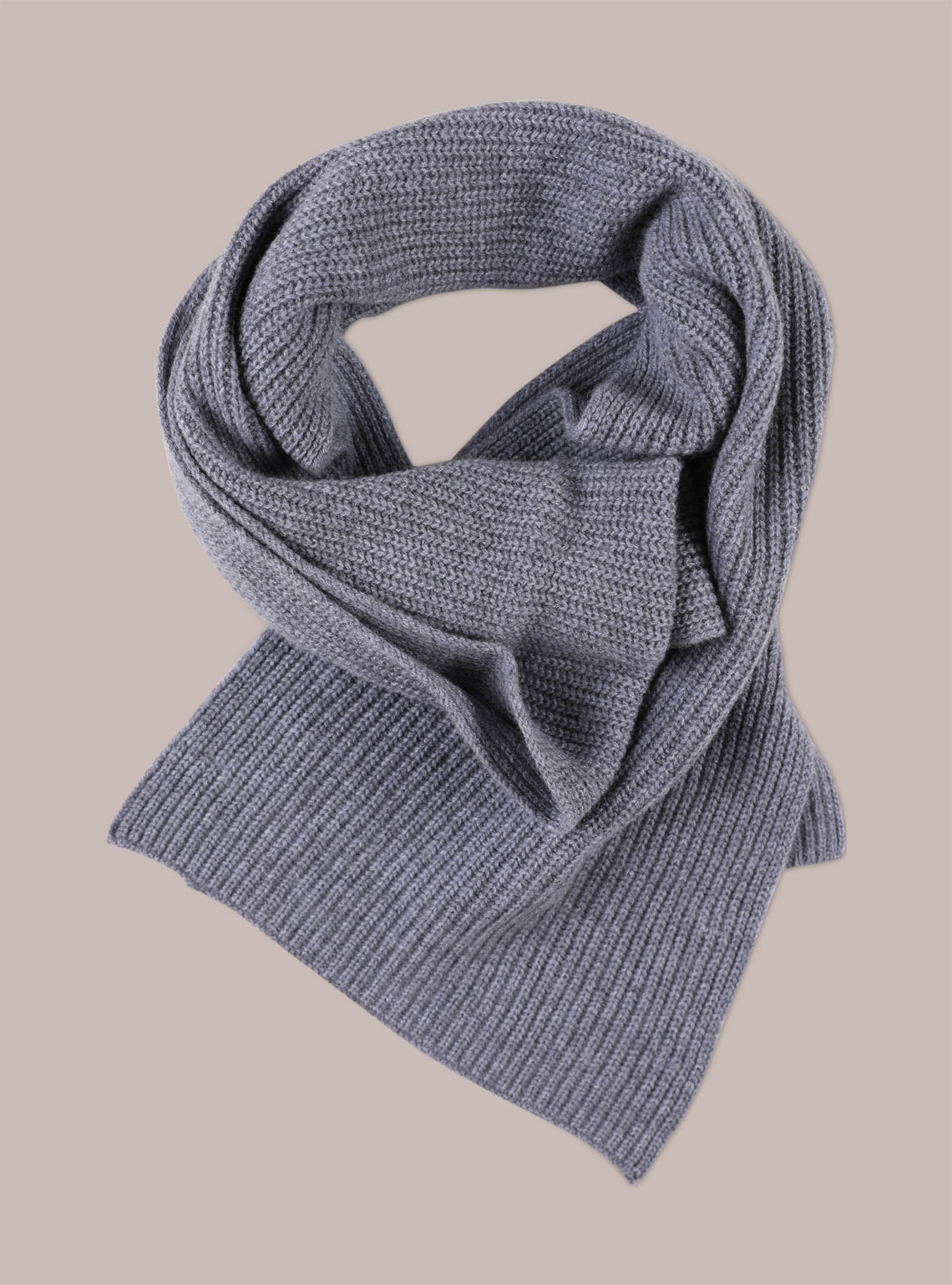Men's Cashmere Ribbed Scarf
