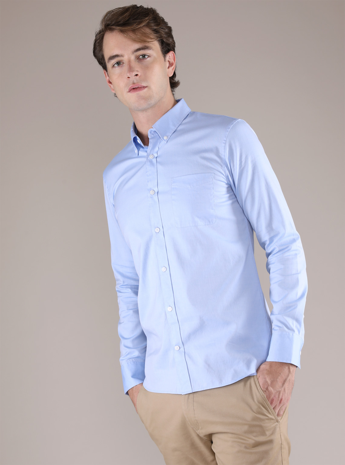 Men's Oxford Slim Shirt