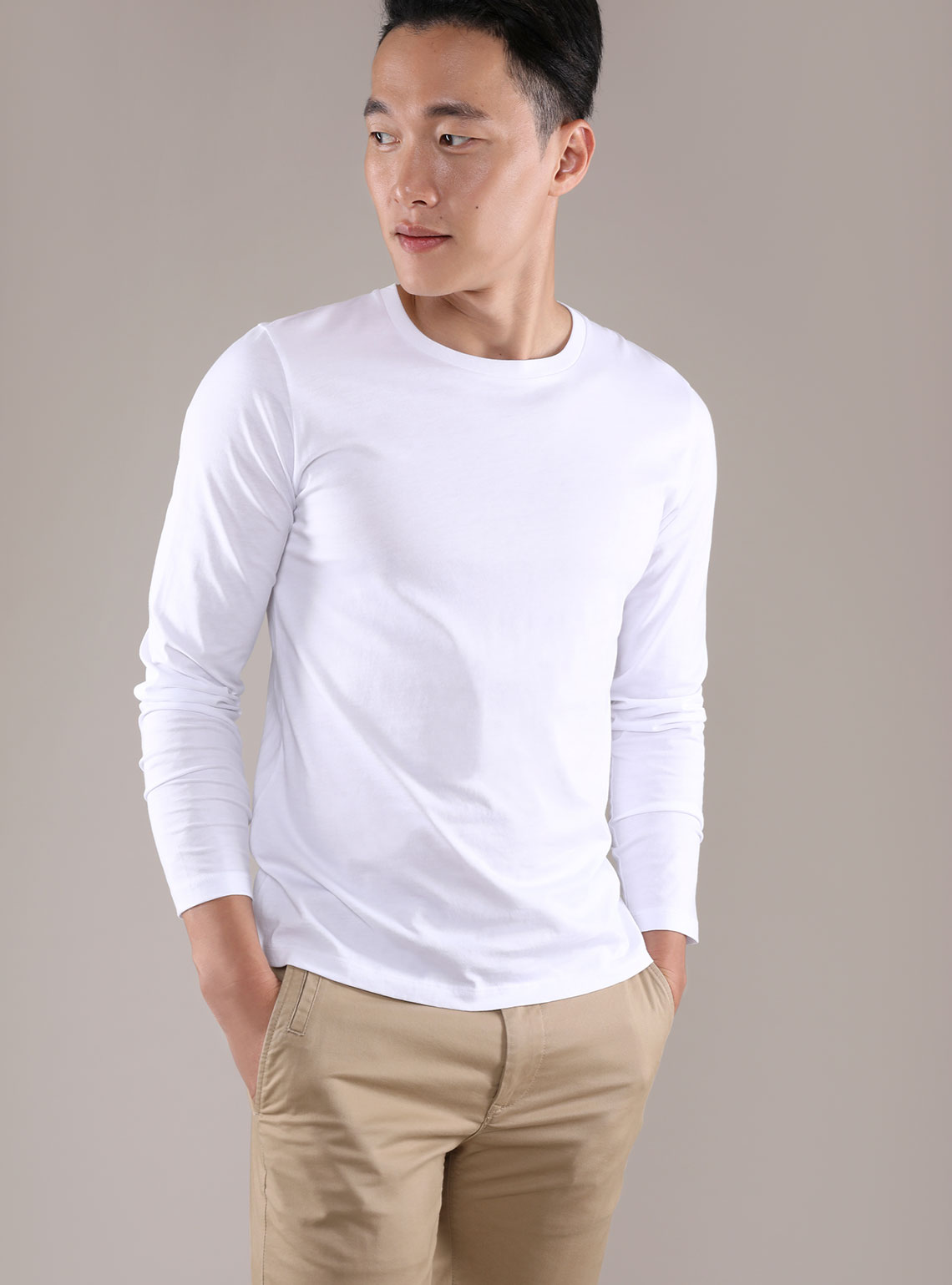 Mens Pima Long Sleeve Tee