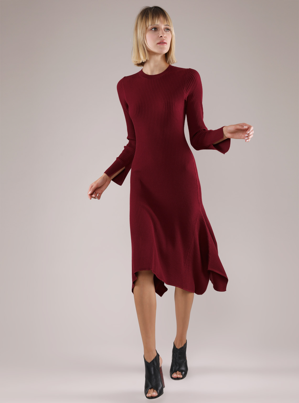 Women's Merino Wool Rib Dress
