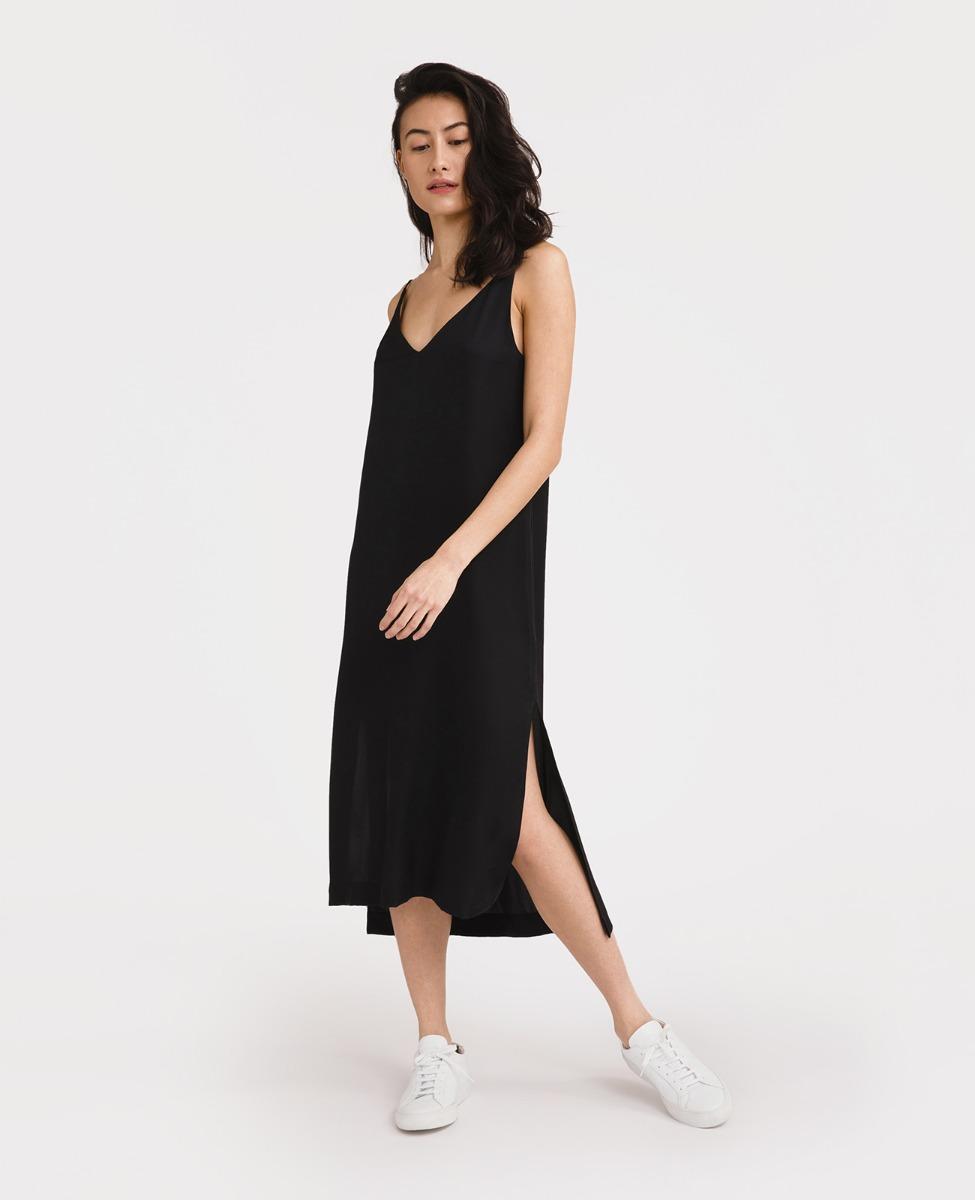 Silk V-Neck Slip Dress