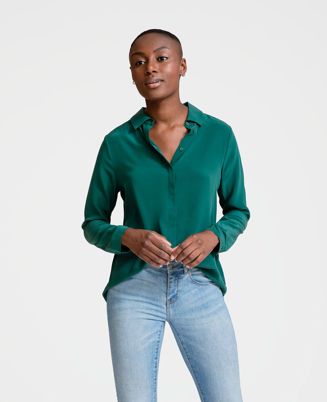 Women's Silk Long Sleeve Shirt