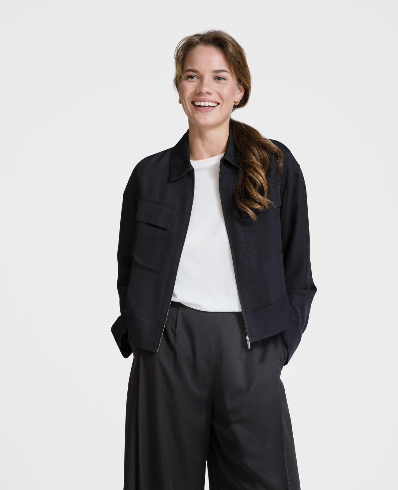 0dd88883794ab Womens Silk Eisenhower Jacket