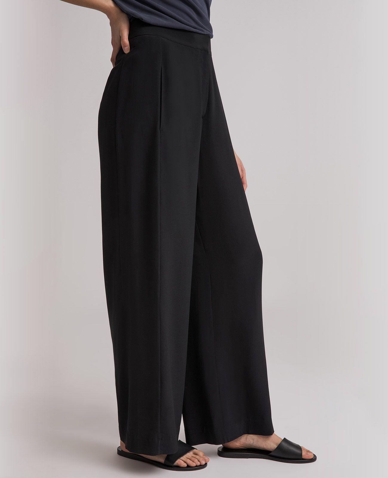 d5064484ad7a Silk Wide Leg Racer Pants | Grana