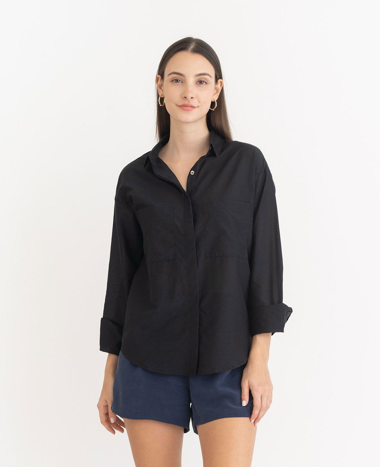 418db5980b Silk Cotton Boyfriend Shirt