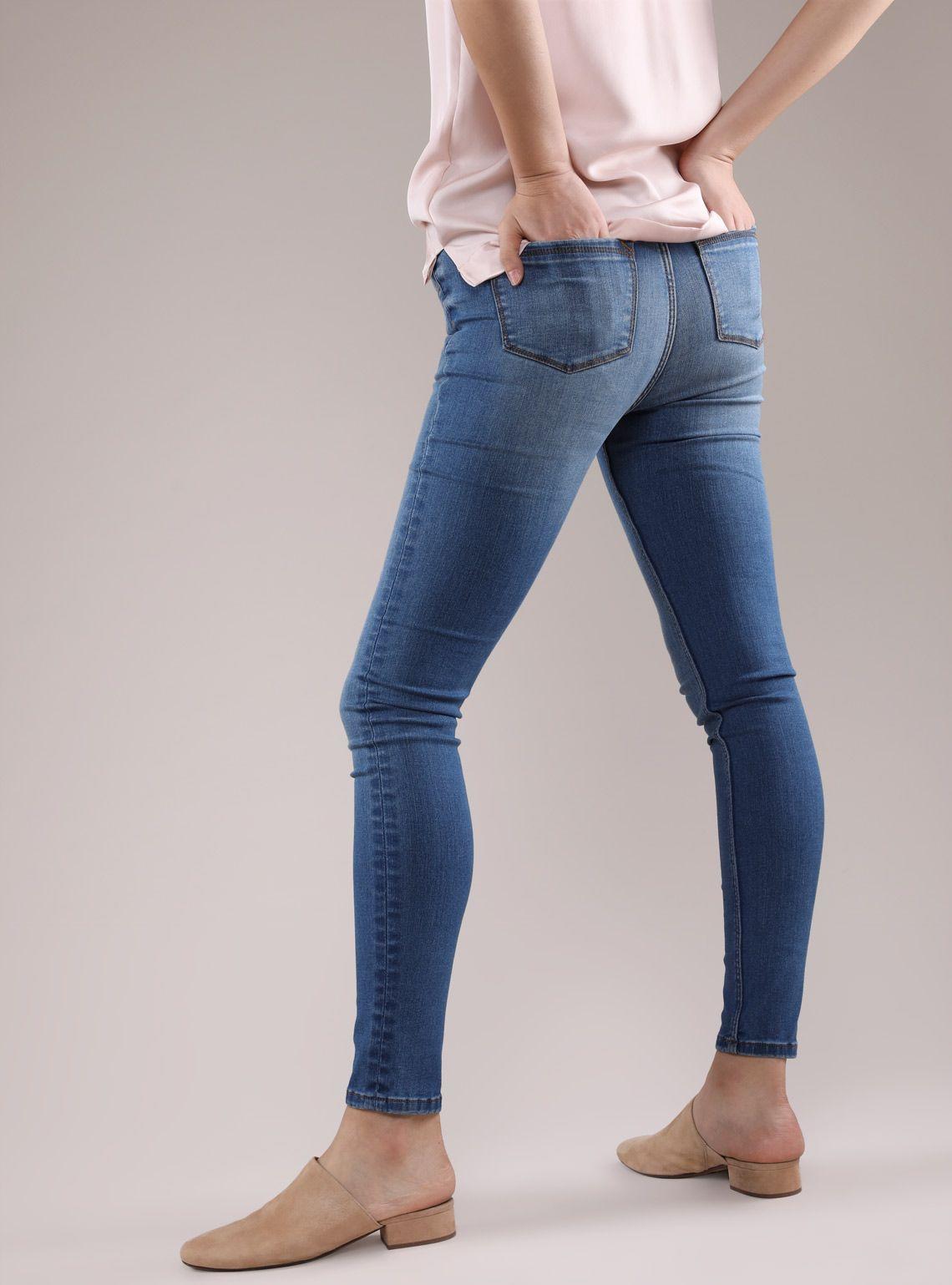 6ec784764 Women's Flex Denim Mid-Rise Skinny Jeans | Grana