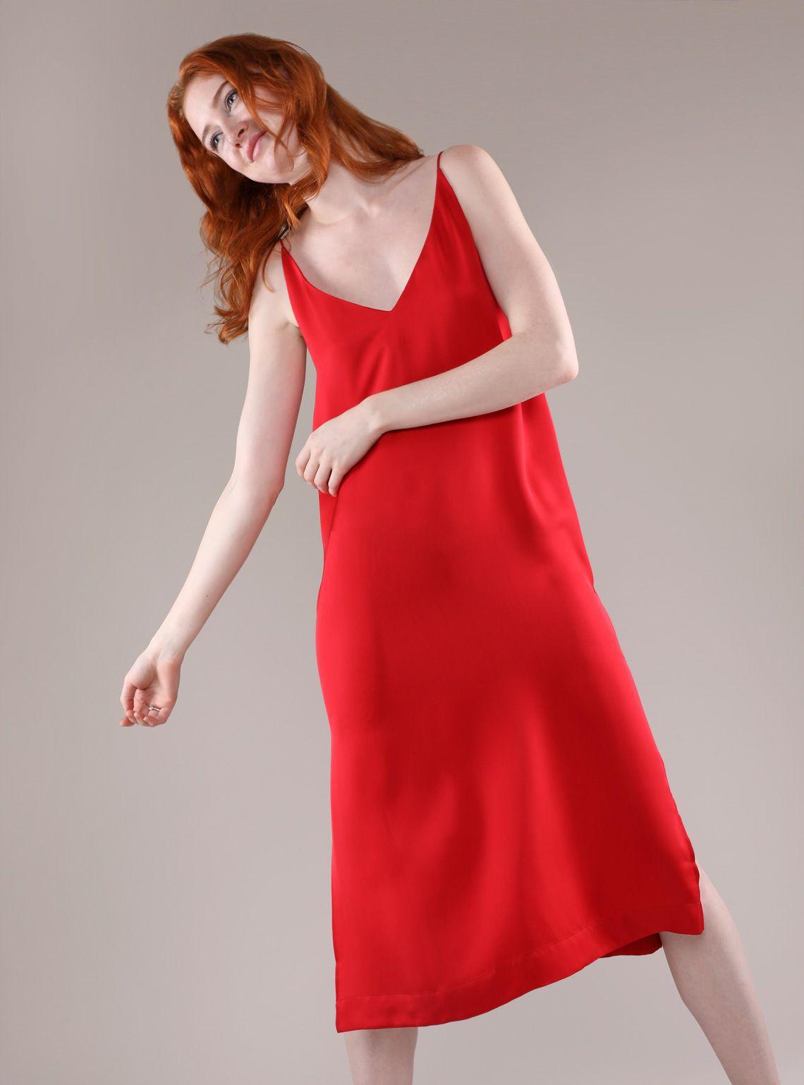 a5f1ce0f41e3 Silk V-Neck Slip Dress Updated   Grana