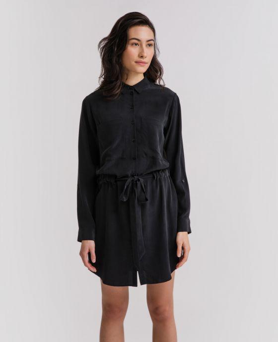 86d663f1aa6 Model wearing Shirt Dress ...