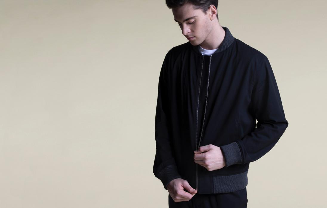 silk blazer in black