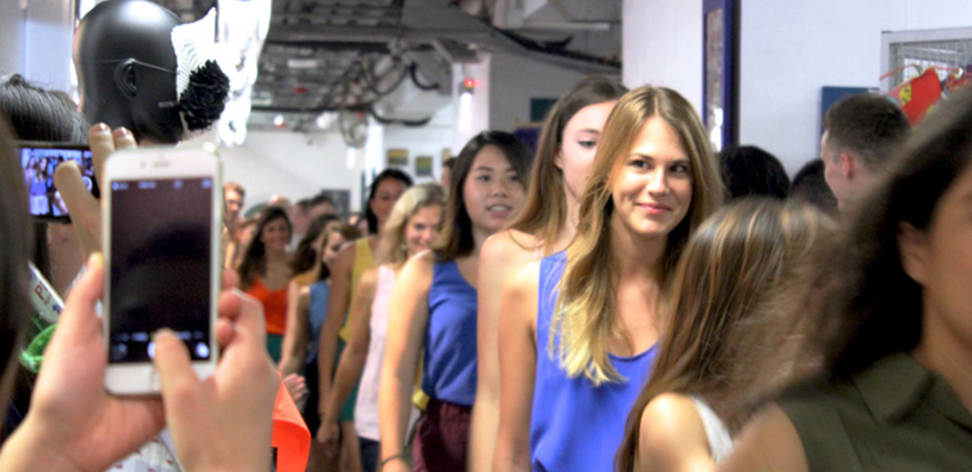 Runway at the pmq launch party